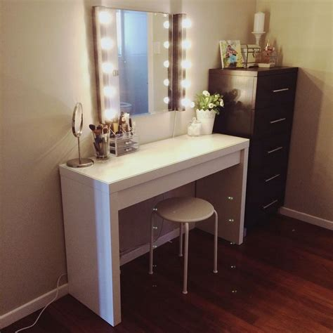 makeup mirror with lights and desk diy makeup vanity brilliant setup for your room