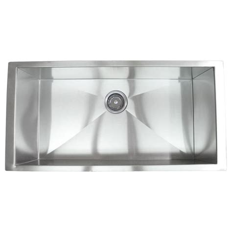 36 Inch Kitchen Sink 36 Inch Stainless Steel Undermount Single Bowl Kitchen
