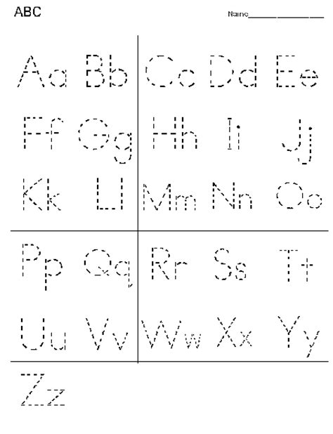 kindergarten dotted line font on template with