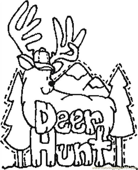 deer hunting coloring pages coloring home