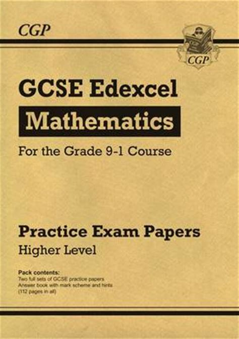 new grade 9 1 edexcel 1782946764 new gcse maths edexcel practice papers higher for the grade 9 1 course by cgp books waterstones