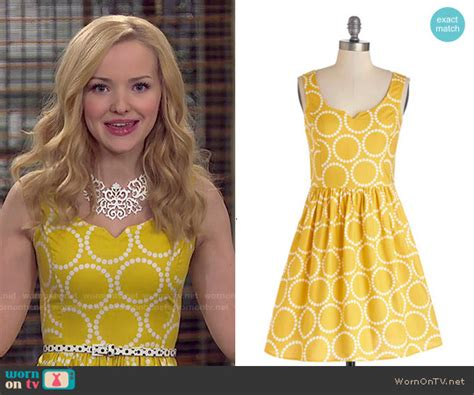 Camerons Kinda Sorta Dress by Wornontv Liv S Yellow Polka Dot Dress On Liv And Maddie