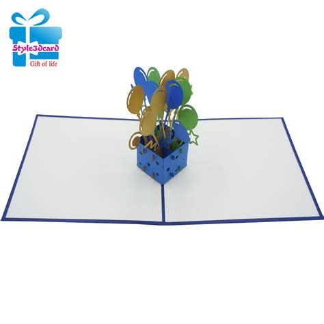 Balloon Pop Up Card Template by Balloon And Gift Box 3d Pop Up Cards Style3dcard
