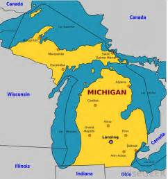 Michigan On Map by Why Is Michigan Called The Great Lakes State With Pictures