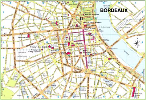 map of city centre bordeaux city center map