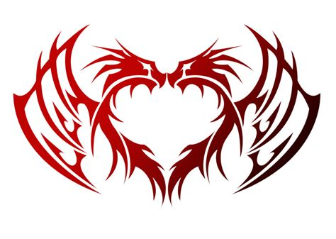 dragon heart tattoo designs tribal by kuroakai on deviantart