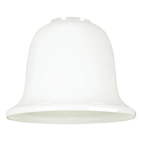 white bell l shade westinghouse 4 1 4 in white and clear drum shade with 10