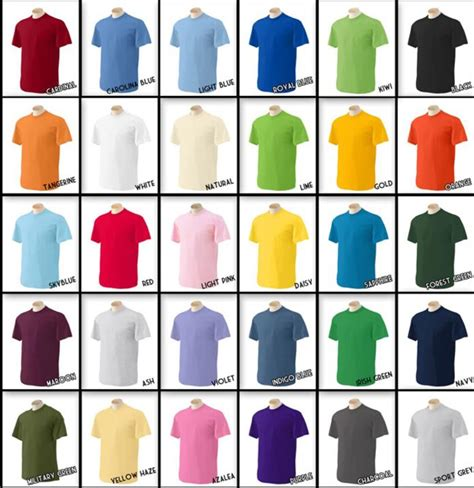 tshirt colors inkdogg custom t shirt colors