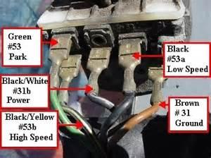 wiper motor wiring diagram shoptalkforums com