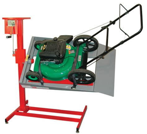 lawn mower repair lift table handy rotating lawn mower lift stand free shipping