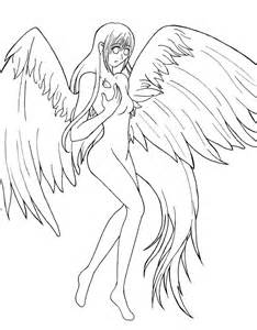 fallen anime angels coloring pages coloring pages