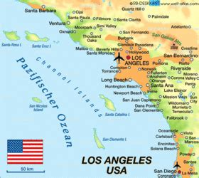 map of the united states los angeles map of los angeles united states usa map in the atlas