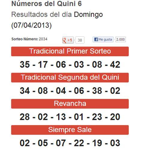 resultados del quini 6 del domingo 10 de febrero de 2013 quini 6