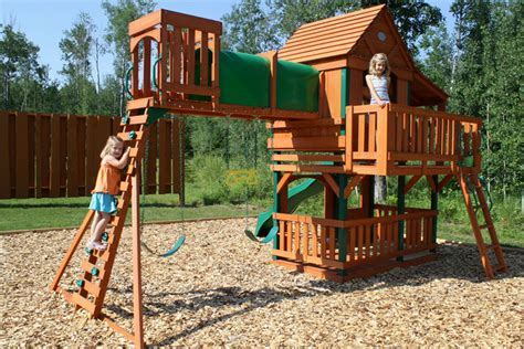 woodridge wooden swing set with slide woodridge wooden swing set with slide specs price