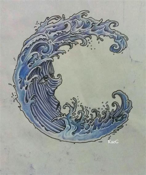 japanese water tattoo japanese water wave design