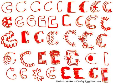 creative letters visual thinking creative lettering design capital c