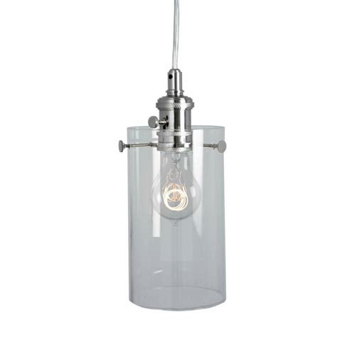 Home Decorators Collection 1 Light Clear Glass Ceiling Cylinder Pendant Lighting