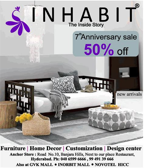 inhabit 7th anniversary sale 50 on wide range of