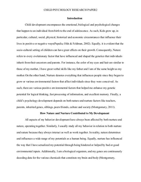 research paper on psychopaths child psychology research paper