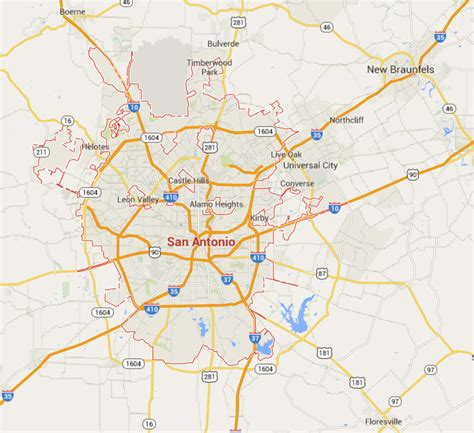 map to san antonio texas revizionwizard