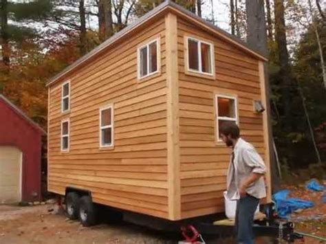 mini trailer house sherwood tiny house on a trailer youtube