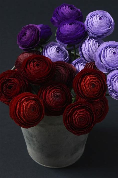 How To Make Paper Ranunculus - diy project paper ranunculus design sponge