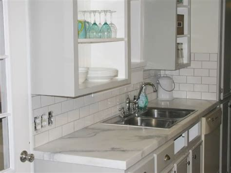 Faux Marble Laminate Countertops by Faux Marble The Lettered Cottage Kitchen Inspiration