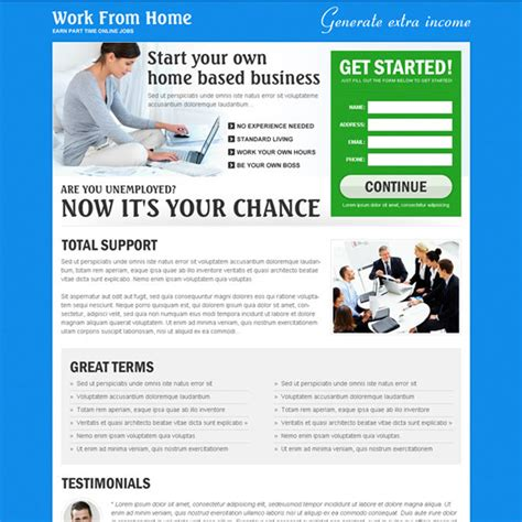 home based business web design home design and style landing page design templates to improve your online presence