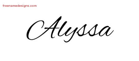 alyssa archives free name designs