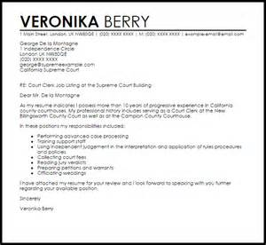 Cover Letter For Judicial Clerkship Court Clerk Resume Exle Ebook Database