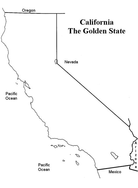 california state map outline california state flower coloring pages
