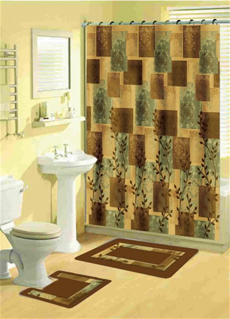 bathroom shower curtain and rug sets home dynamix bath boutique shower curtain and bath rug set 331 soft squares shower