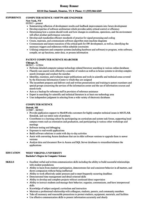 resume examples computer science of resumes shalomhouse us