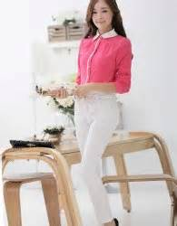 Baju Fashion Import Wanita Cewek Atasan Blouse Brokat 1 baju atasan putih brokat modis 2016 jual model terbaru