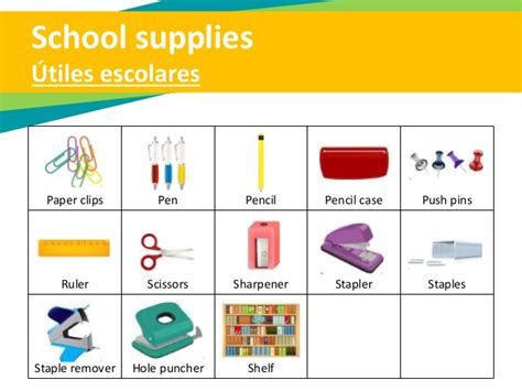 imagenes utiles escolares en ingles beginner training material 1