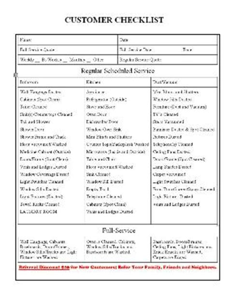 maid service maid service cleaning checklist