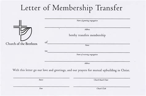 Transfer Letter On Grounds Letter Of Membership Transfer Certificate