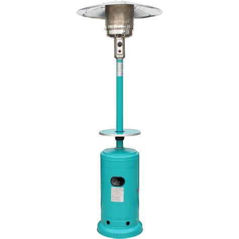 Umbrella Patio Heater Hanover 41 000 Btu 7 Ft Steel Umbrella Propane Patio Heater In Teal Han006tl The Home Depot