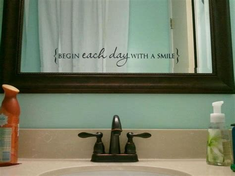 bathroom mirror quotes 101 best images about uppercase living on pinterest vinyls master bedrooms and wall quotes