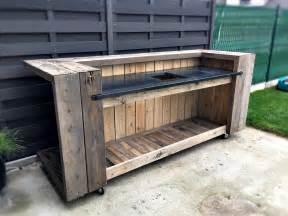 pallet outdoor kitchen bar pallet ideas 1001 pallets