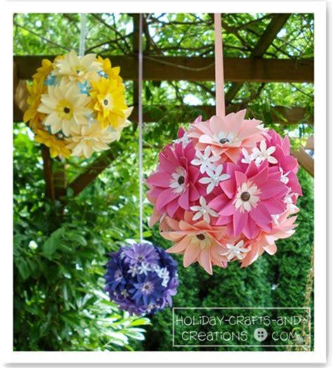 How To Make Paper Flower Balls For Wedding - wedding balls pomanders design