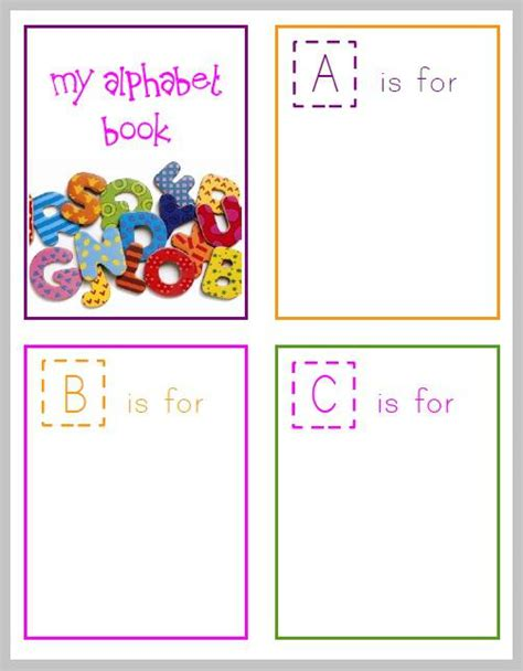 printable alphabet book free printable alphabet book for preschoolers