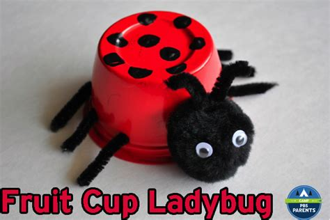 How To Make A Ladybug Out Of Paper - fruit cup ladybugs