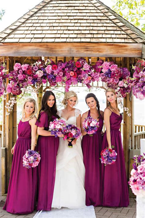 wedding colour themes bridesmaid dresses etc purple magenta bridesmaids dresses stunning colour theme