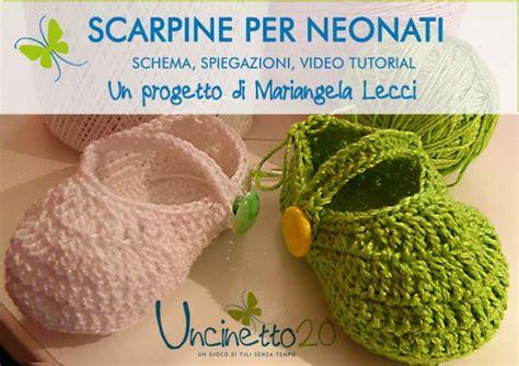 tutorial video uncinetto scarpine a uncinetto per neonati di mariangela lecci