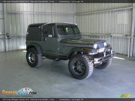 charcoal grey jeep 1990 jeep wrangler laredo 4x4 charcoal gray metallic