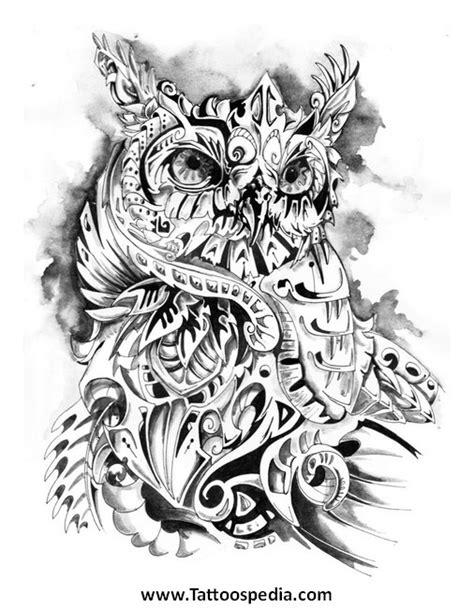 owl tattoo line drawing tony baxter