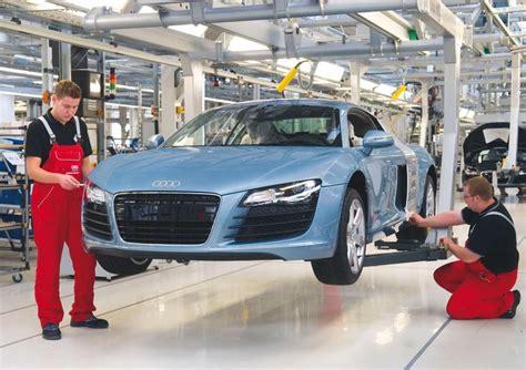 Audi Germany Factory by Audi R8 Factory In Neckarsulm Germany Teamspeed