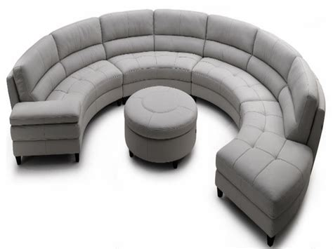 Contemporary Sofas Half Sectional Sofa Half Circle