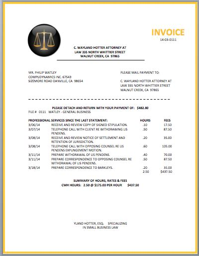 Law Firm Invoice Template Legal Attorney Invoice Template Format Amp Template
